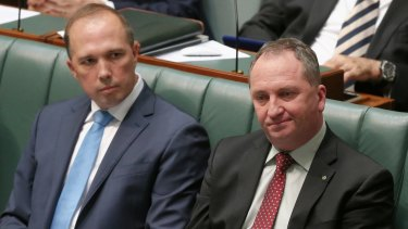 Immigration Minister Peter Dutton and Deputy PM Barnaby Joyce.