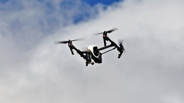 Police followed the drone back to its launch site and charged a 17-year-old man.