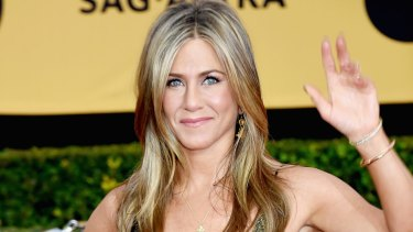 'No, no I can't': Jennifer Aniston on the red carpet.