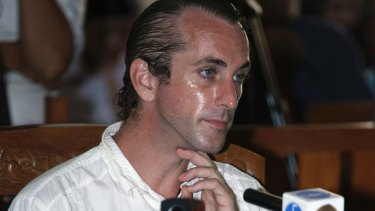 British national David Taylor during his verdict trial in Bali in March.