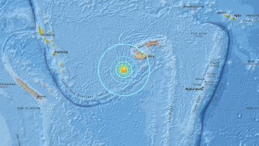 An earthquake of magnitude 7.2 has shaken Fiji.