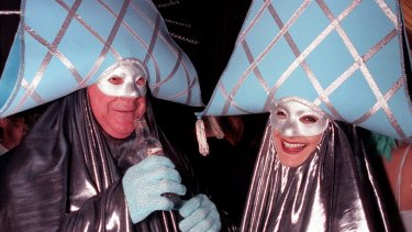 Leo Schofield and Julie Gipps (Glen and Glenda) show off their outfits