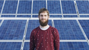 PhD researcher Mattias Juhl at the School of Photovoltaic and Renewable Energy Engineering at the University of New South Wales.