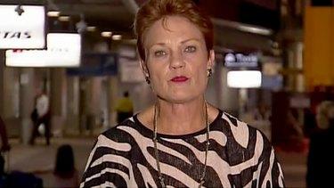 Pauline Hanson on Sunrise on Monday morning.