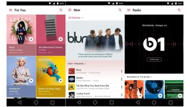 Apple Music on Android is very similar to Apple Music on iOS.