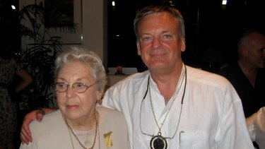 Ken Hillman with his mother, Margaret.