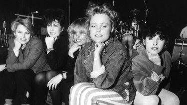 Belinda Carlisle and The Go-Gos during their 1982 Australian tour.