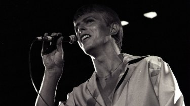David Bowie performing to more than 16,000 people at the Showground in Sydney on 24 November 1978.