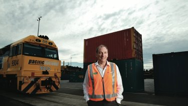 Asciano CEO John Mullen is expanding the group's network of freight hubs so more goods can be moved on rail.