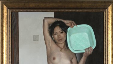 Wei Rong's <i>Poor Goddess</i> swaps nudity for nakedness in a reimagining of Ingres' <i>The Source</i>.
