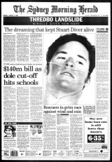 The front page of the SMH, August 4, 1997