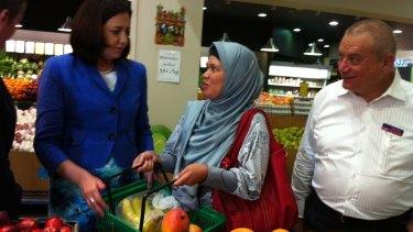 Annastacia Palaszczuk campaigns at Sumnybank Hills Shopping Centre as she bids to become premier.