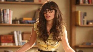 Zooey Deschanel as Jess in <i>New Girl</i>.