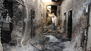 Yemen's Saada hospital run by Medecins Sans Frontieres  was bombed by a Saudi-led air strike on Tuesday, the second time this month an MSF facility has been hit in a war zone. On October 3 an MSF hospital in Kunduz in Afghanistan was hit by a US air strike killing 30 people (pictured).