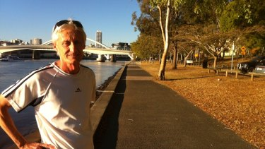 Jogger Mark Knight (at Riverside Drive at South Bank) says the new apartment developments will ease the strain on public transport.