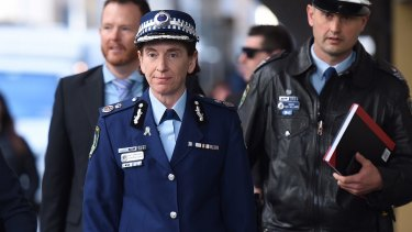 NSW Police Deputy Commissioner Catherine Burn arrives at the Lindt cafe siege inquest.