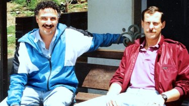 Javier Pena and Steve Murphy in Colombia in the late 1980s.