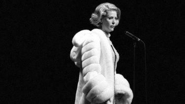 Jennifer Ward-Lealand channelling Marlene Dietrich.