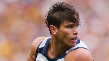 A new breed of power forward: Geelong's Tom Hawkins.