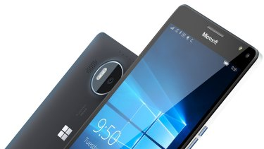 One of Microsoft's newest smartphones, the Lumia 950 XL.