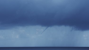 A water spout off Bronte Beach on Wednesday.