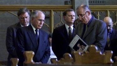 Former prime minister John Howard with deputy prime minister Tim Fischer.