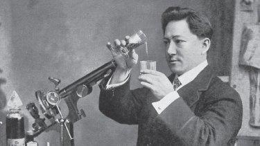 Rosetta's lover Zeno, c.1910, in his laboratory in London.