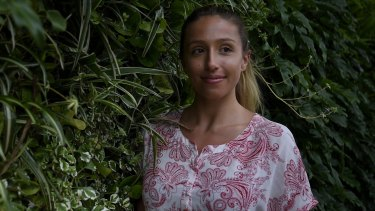 Behind the eight ball: Sophia Hatzis, 20, who believes Sydney's housing affordability crisis will mean she will rent all her life.