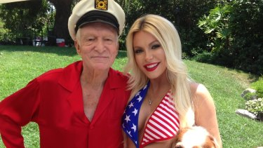 A condition of sale may see Hugh Hefner and his wife Crystal remain until his death.