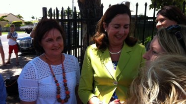 Labor's new candidate for Mackay Julieanne Gilbert with Opposition Leader Annastacia Palaszczuk.