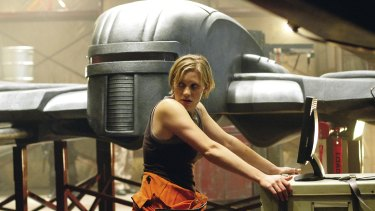 Katee Sackhoff as Starbuck in the brilliant re-imagined Battlestar Gallactica.