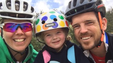 Scarlett Fox, with her parents Samantha and Chris, will benefit from a new drug subsidy.