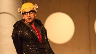 Mitchell Butel as Mr Burns in <i>Mr Burns: A Post-Electric Play</i>.
