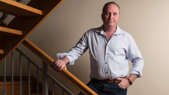 Barnaby Joyce at home in Armidale.