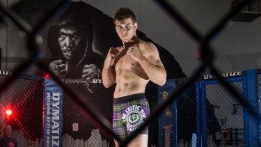 "Local fighter Jake ""The Celtic Kid"" Matthews."
