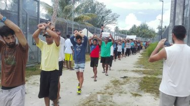 The men on Manus Island keep up their protests in November.