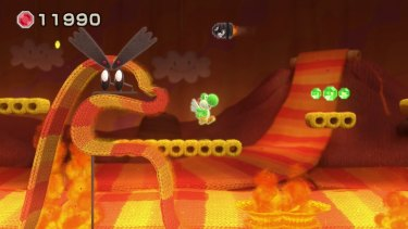 In <i>Yoshi's Woolly World</i>, caves are made of cushions and lava is a giant red and yellow scarf being rolled out by a felt volcano. It will still burn you if you touch it though.
