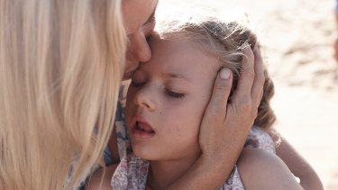 Peta Murchison with her daughter Mia, now seven.