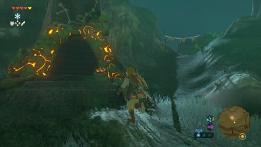Entering one of the game's many shrines.