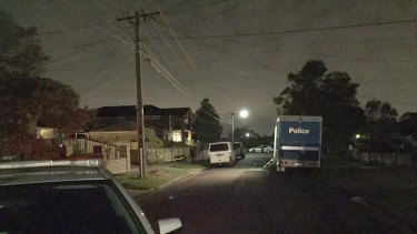 The crime scene in Morwell Crescent, Dallas.