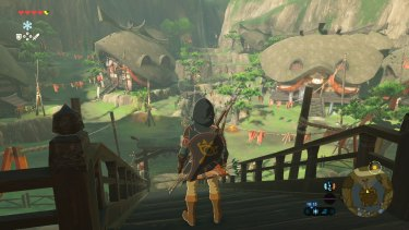 Exploring one of the game's many villages.