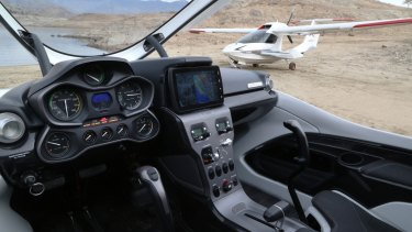 The aircraft's cockpit takes influence from the simplicity of car dashboards.