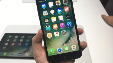 The iPhone 7 and 7 Plus come in a shiny, jet black.