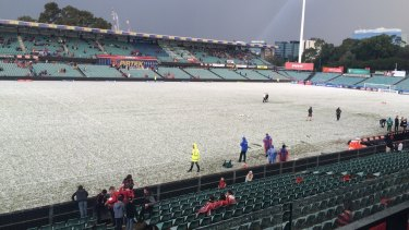 Parramatta Stadium, as the kick-off between the Wanderers and Glory has been delayed.