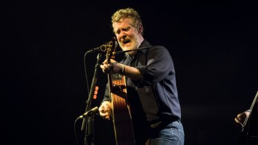 Glen Hansard in full flight on his Australian tour.
