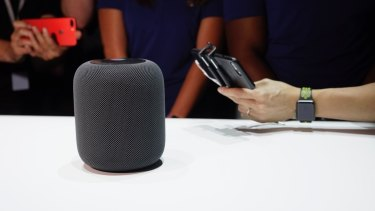 Apple's HomePod attracted the biggest crowd at the WWDC hands-on area.