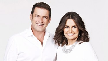 Lisa Wilkinson with her former co-host Karl Stefanovic. Their pay gap pushed her to find another job.
