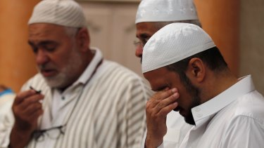 Imams at the ar-Rahma mosque in the Nice suburb of Ariane held prayers on Tuesday for three people killed in the July 14 attack.