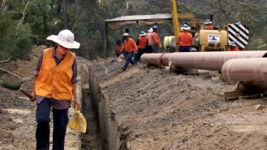 Construction of the Eastern Gas Pipeline between Nowra and Nerriga, NSW.