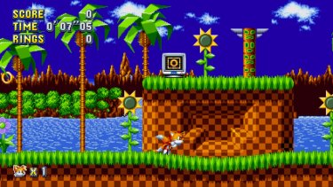 You can play as Sonic, Tails or Knuckles. There's also the option to be Sonic and have Tails follow, and he's as hilariously incompetent as ever.
